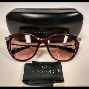 🔥Coach Metal Frame Cat Eye Sunglasses